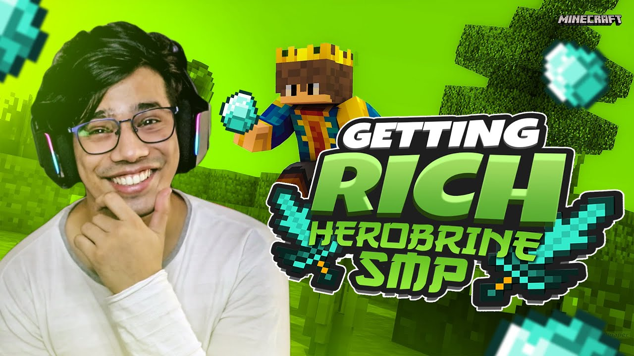 We Are Rich In Herobrine SMP | Day #31