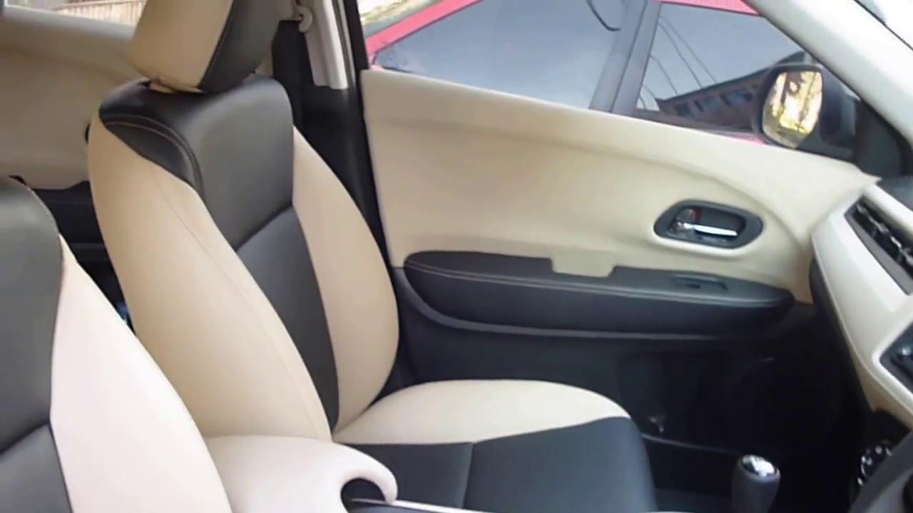 Interior Honda Hr V Dengan Sarung Jok Kombinasi 2 Warna