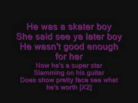 Avril Lavigne - Skater Boy Lyrics | MetroLyrics