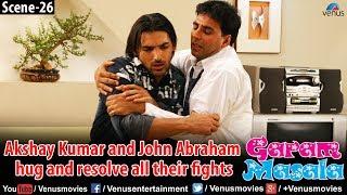 Akshay Kumar and John Abraham hug and resolve all their fights (Garam Masala)
