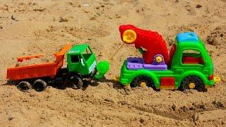 Машинки мультфильм - Мир машинок - 109 серия:  Самосвал, трактор. Развивающий мультик для детей.
