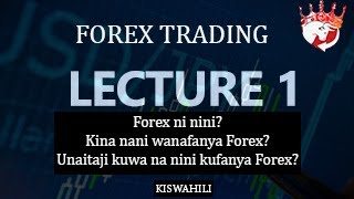 FOREX TANZANIA KISWAHILI - lecture 1 (introduction, market participants & business requirements)