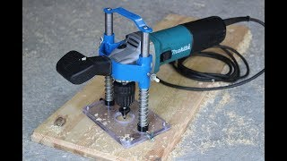 Fresatrice per legno da una smerigliatrice (angle grinder hack)