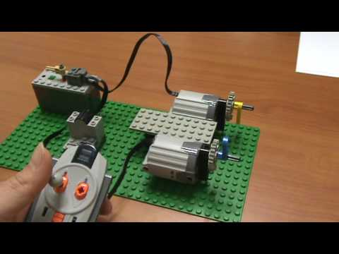 Demonstration for LEGO 8878 battery with motors