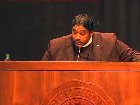 Rev. Dr. William Barber, President of NC NAACP, speaks at Mars Hill University