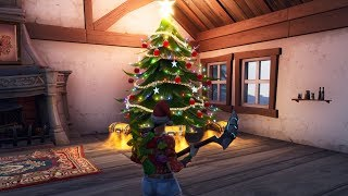 FORNITE SECRET CHRISTMAS TREE LOCATION SEASON 7 (Fortnite Battle Royale)