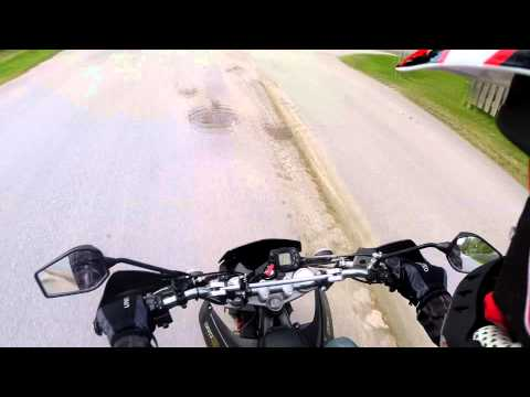 Riding my Derbi Senda DRD EVO 50 SM Limited Edition ( Testing my GoPro camera)