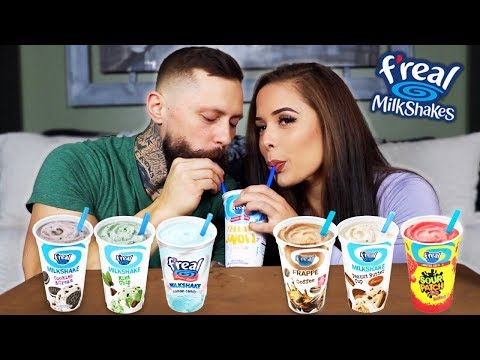 MILKSHAKE MUKBANG - Trying F'real Milkshakes With My Boyfriend!