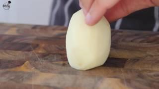 Как нарезать картошку соломкой и кубиком.  [WeeklyFood.ru]