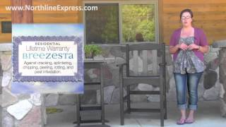 Breezesta Maintenance Free Patio Furniture - Skyline Counter Height Captain's Chair