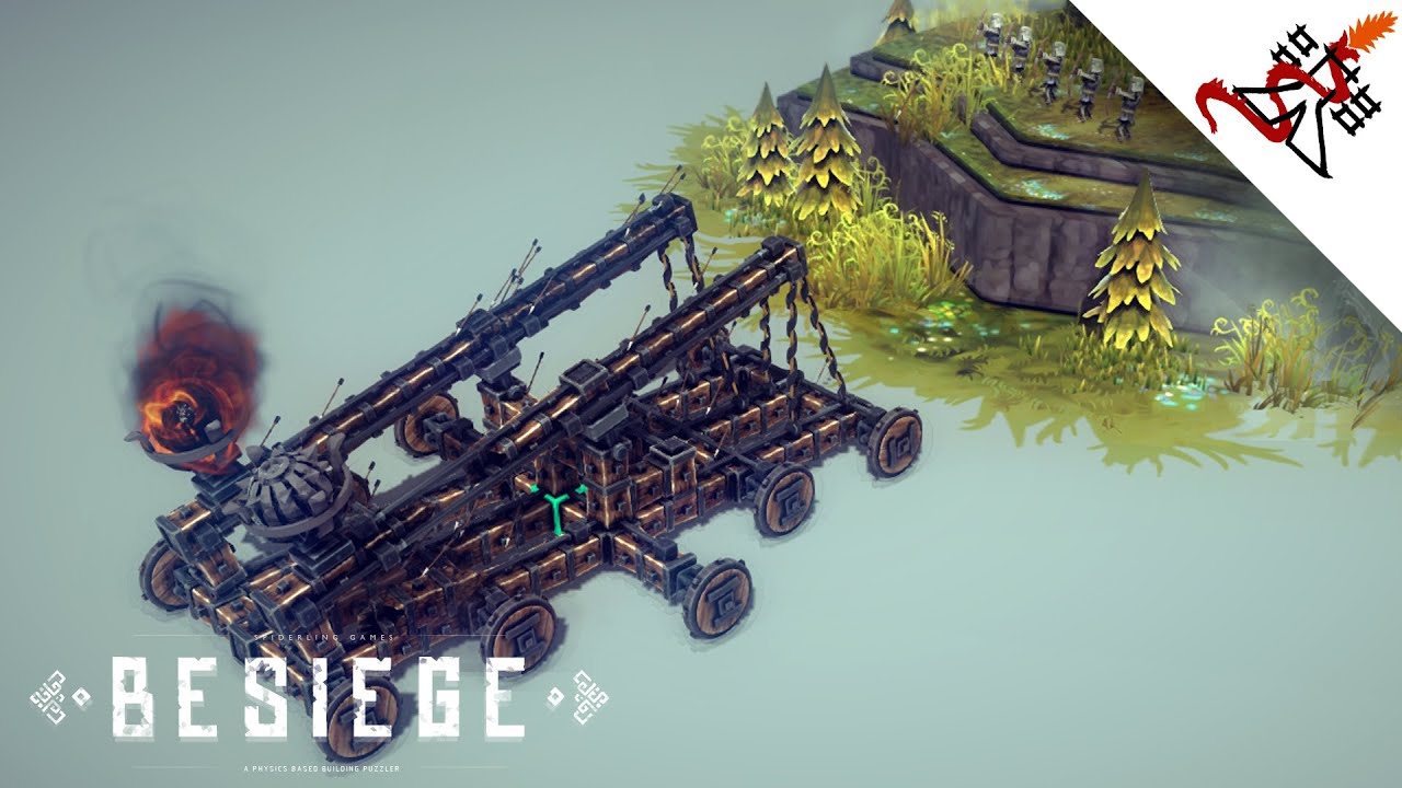 Besiege How To Build A Double Catapult Youtube