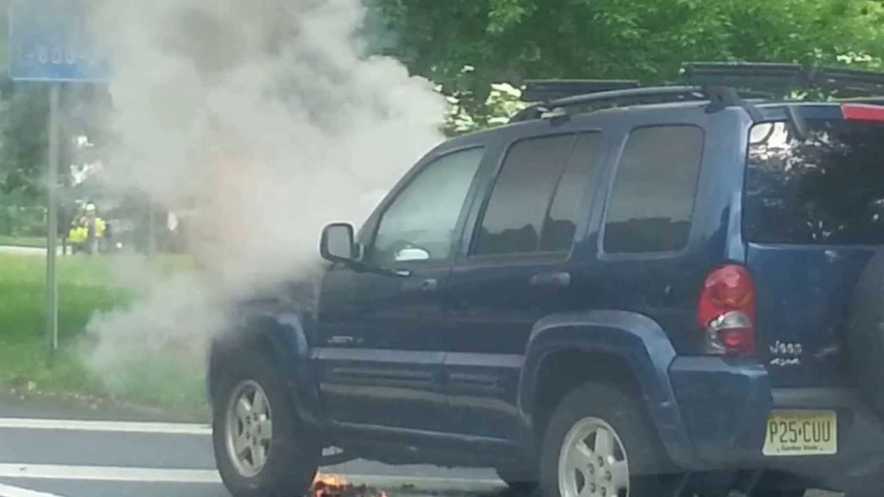 Jeep Liberty Has A Fire Under The Hood