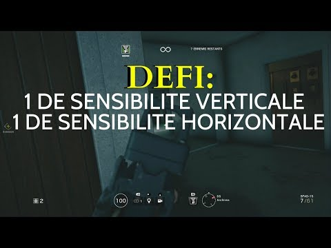 DEFI:1 DE SENSIBILITE. (IMPOSSIBLE) ;RAINBOW SIX SIEGE.
