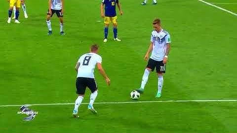 Kroosartiges Tor Deutschland 2:1 Schweden