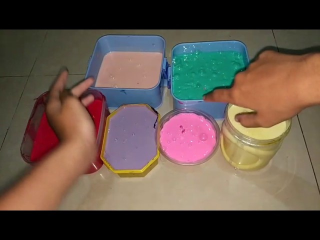 Mixing all slime COLLECTION!!! Bahasa Indonesia