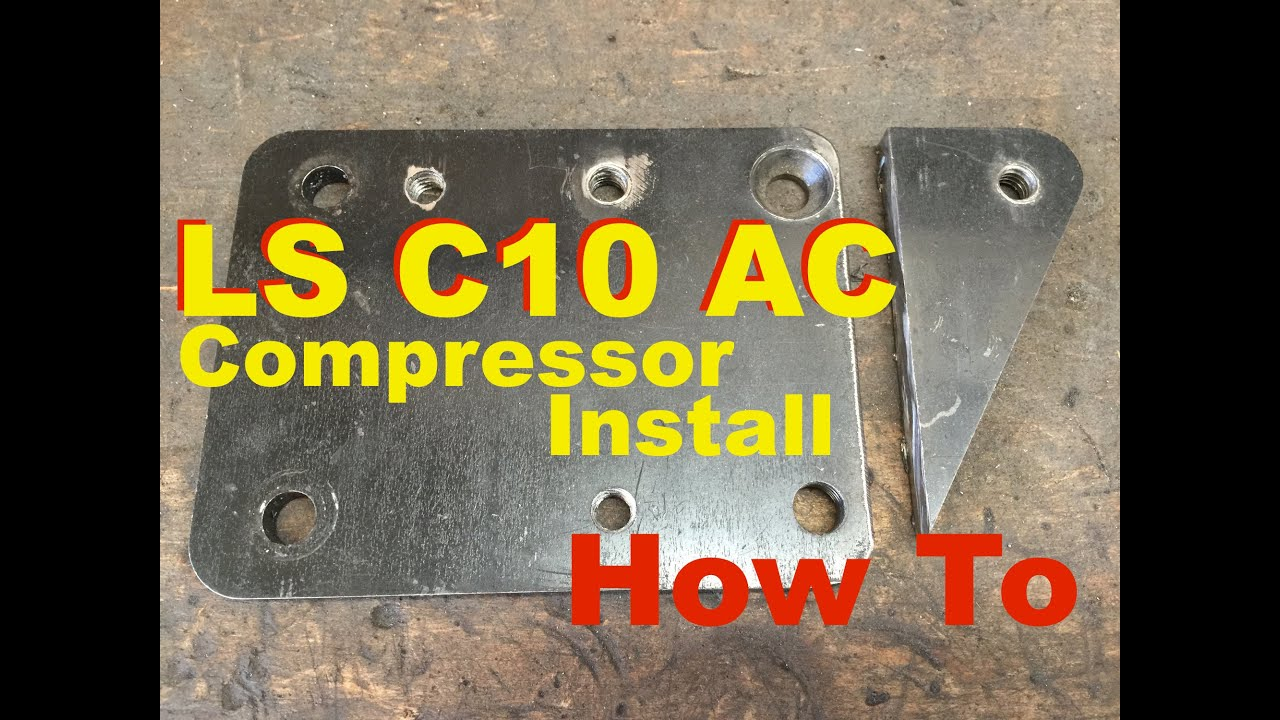small resolution of cold ac on c10 lsx swapped part 1 front crossmember info 73 87 chevy truck 5 3 compressor ls