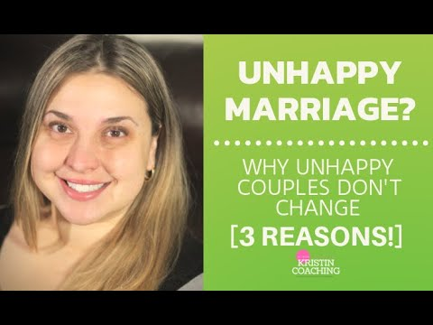Unhappy Marriage: Why Unhappy Couples Don't Change [3 REASONS!]