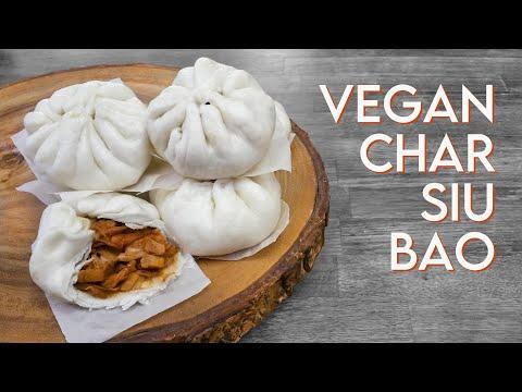 VEGAN DIM SUM CHAR SIU BAO • Jackfruit BBQ 'Pork' Steamed Buns