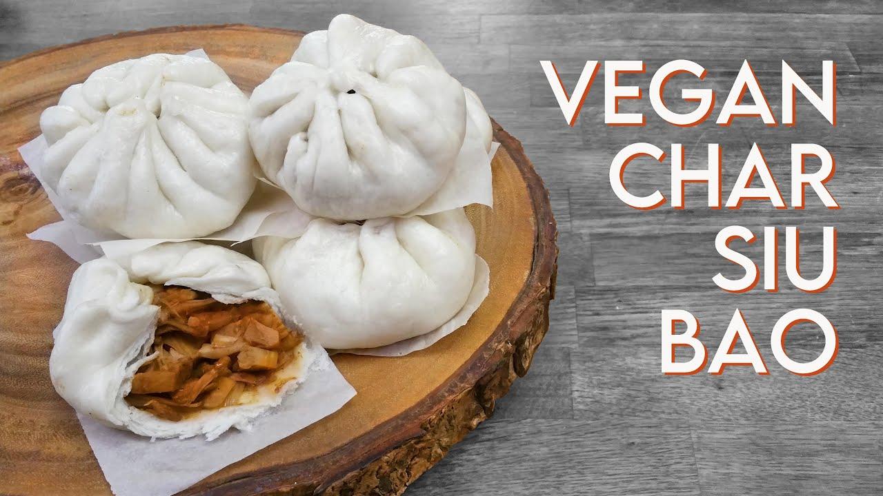vegan dim sum char siu bao jackfruit bbq uporku steamed buns