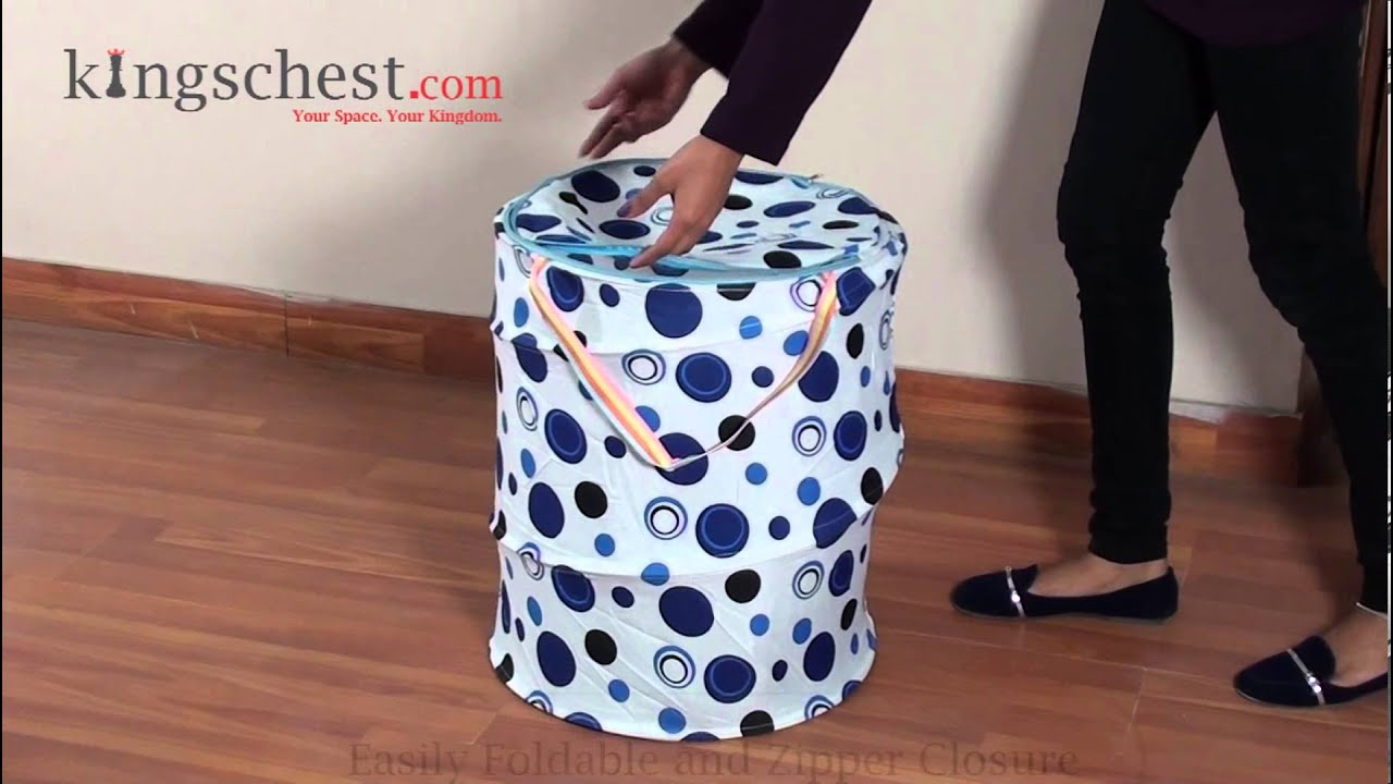 Printed Fabric Foldable Laundry Bag