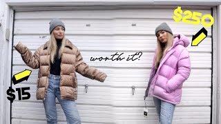 WINTER JACKET BATTLE: thrift vs high end #thriftmas