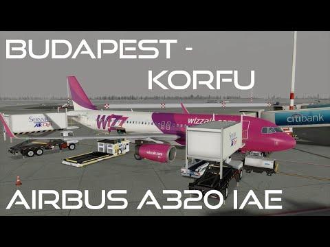 [Prepar3D v3/IVAO] Full ATC | Budapest-Corfu | Airbus A320-232 IAE | WZZ2245