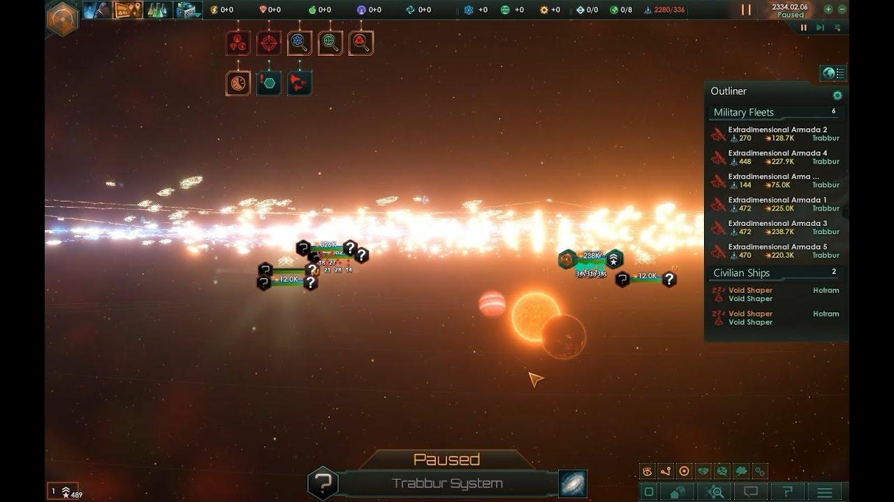 Some battles between Extradimensional Invaders - Stellaris