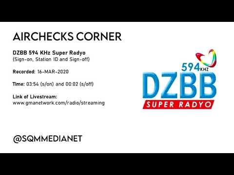 DZBB-AM 594 KHz Super Radyo Sign-on And Sign-off [16-MAR-2020]