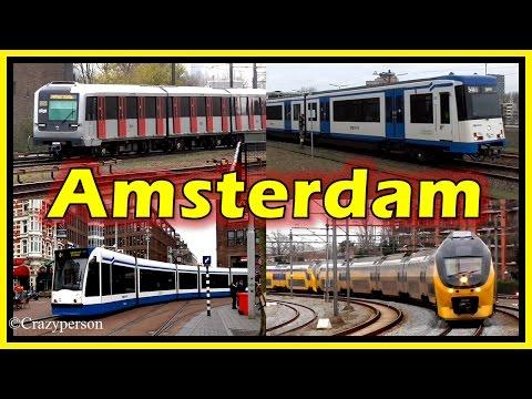 Train, Metro, Tram in Amsterdam