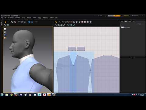 Marvelous Designer Male clothing and export to maya