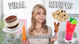 Wengie Tries Viral Food Recipes