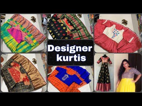 Designer Soft Pattu Banarasi Silk Kurties along with watsapp num/Gowns/Anarkali    BHAGYASREE