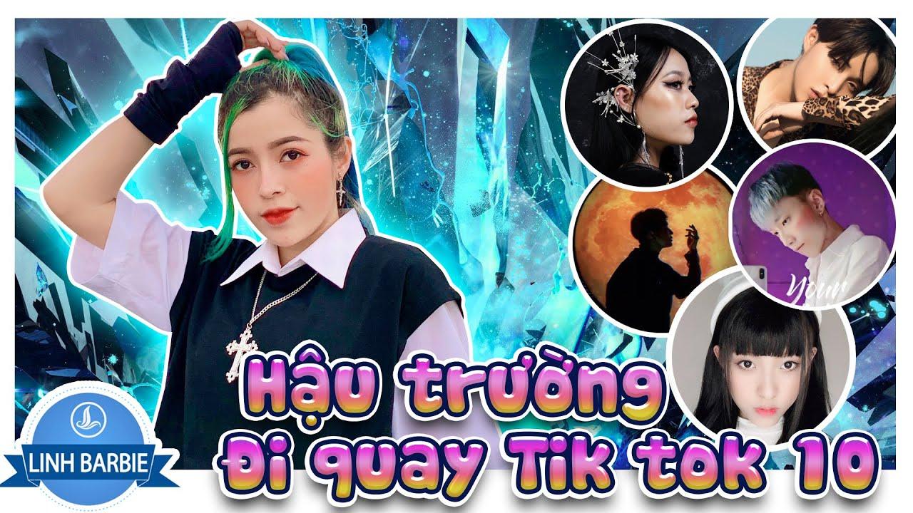 Một Ngày Cùng Team TikToker 10 - Hậu Trường Tik Tok 10 I Linh Barbie Vlog