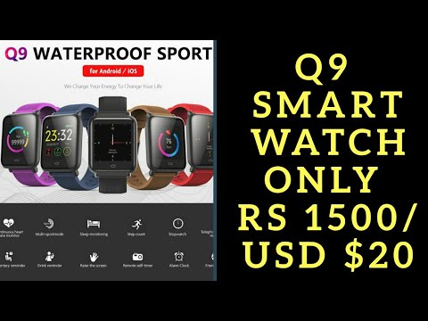 #Q9Smartwatch - Waterproof Sports and Fitness Smart watch Full Review!