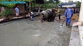 Extreme Modern Machinery Concrete Mixer Courtyard Construction Process