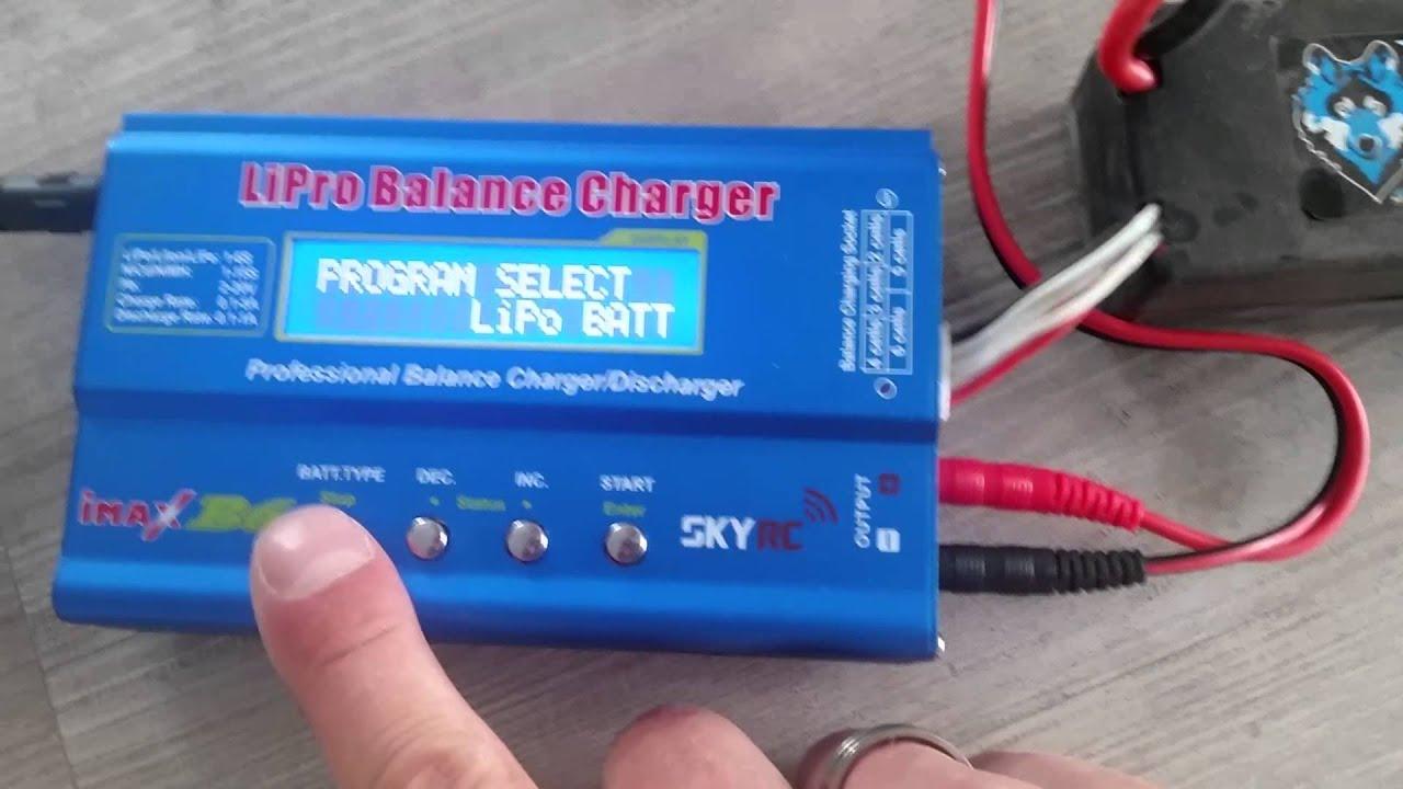 Imax B6 Ac S1 S8 Rc Lipo Nimh Akku Batterie Digitale Balance Charger Balancer Seven Segments Ladegert Youtube