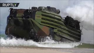 NATO marines storm beaches in 2018 BALTOPS maritime drills in Poland
