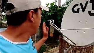 Distância entre satélites no apontamento