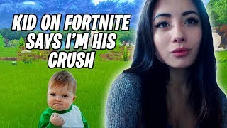 Kid On Fortnite Says I'm His CRUSH | Fortnite Battle Royale
