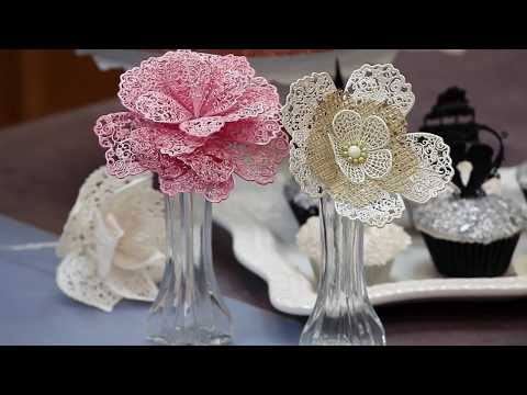 How to Make Lace Flowers | Global Sugar Art