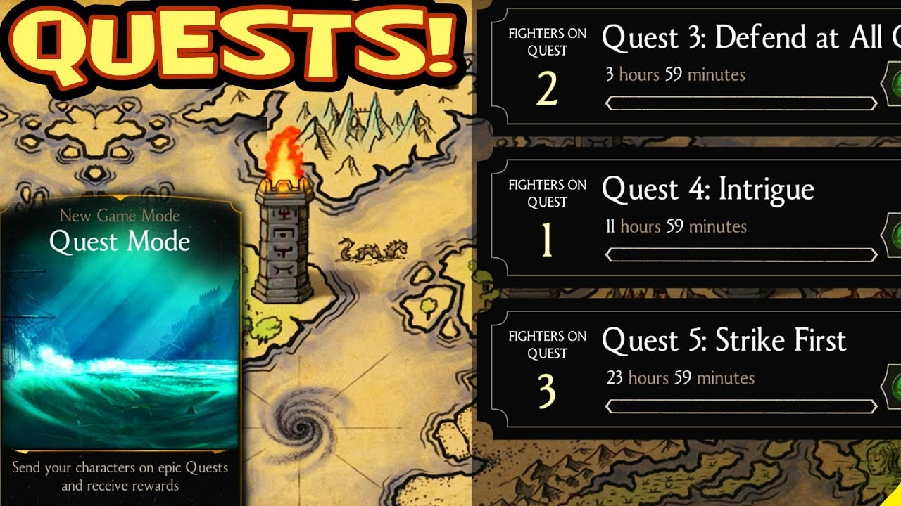 MKX Mobile 1 16 Update  QUESTS  HOW QUESTS WORK  Going on my FIRST QUEST!
