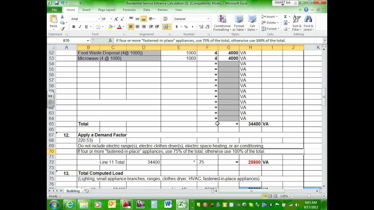 Residential Load Calculation 09 17 12