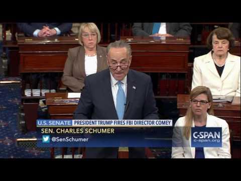 Senator Chuck Schumer on firing of FBI Director James Comey (C-SPAN)