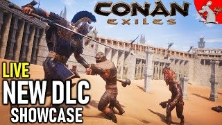 CONAN EXILES NEW DLC JEWEL OF THE WEST SHOWCASE! NEW DLC LIVE - LETS BUILD A PANTHEON
