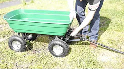Heavy Duty Garden Trolley Cart Tipper Trailer