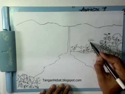 Video Belajar Menggambar Air Terjun Youtube