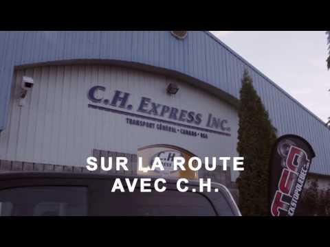 Essai routier d'un camion C.H. Express Inc