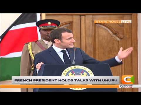 French President Emmanuel Macron at State House Nairobi