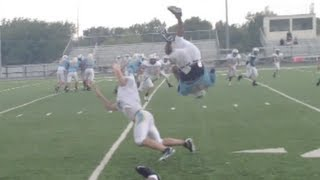 High school scrimmage flip