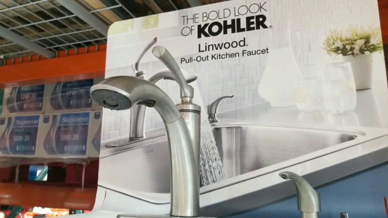 costco kohler linwood pull out kitchen faucet 99